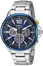 Seiko Men's Jimmie Johnson Solar Chrono 100m Stainless Steel Watch SSC505