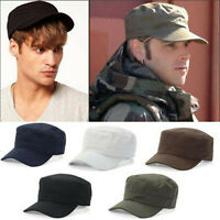 Classic Army Plain Hat Cadet Field Military Cap Cotton Patrol Baseball Men Women