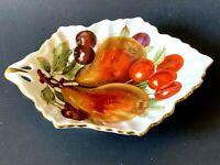 Antique MITTERTEICH BAVARIA GERMANY Leaf Like Fruit Decor Condiment Dish