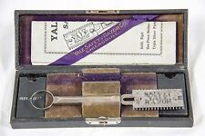 Vintage Yale Safety Razor With Box and Brochure Oct 15,1907 RARE Chicago