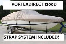 NEW VORTEX SUPER HEAVY DUTY BEIGE/TAN 22' 1200D FISHING/SKI/RUNABOUT/BOAT COVER