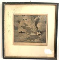 "Benson B Moore The Lone Goose Aquatint Etching Original Signed Ltd 50/50 12""x12"""