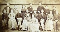 Victorian Carte de Visite Card Photographs of Group by W Hone Liverpool