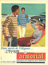 Publicite ADVERTISING 025 1956 Armorial polos shirts by tt dove club 1300