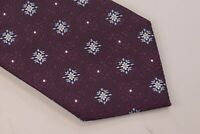 Ermenegildo Zegna NWT Neck Tie Deep Purple With White & Light Blue 100% Silk