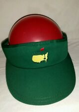 New with Tag Green Masters Embroidered Logo Visor Metal Slide Back Made in Usa