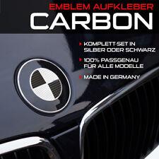 Carbon Schwarz oder Silber Emblem Aufkleber Ecken für BMW E31 E46 E60 E65 E90