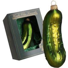 Krebs Glas Lauscha - große Gurke Christmas Pickle