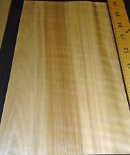 "Spalted Ambrosia Wormy Maple Figured Fiddleback wood veneer 6"" x 9"" unbacked"
