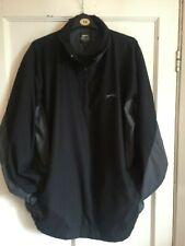 Mens Black Pull On Golf Microfibre Golf Jacket from Slazenger Size L
