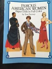Famous American Women Paper Dolls in Full Color by Tom Tierney, 1987