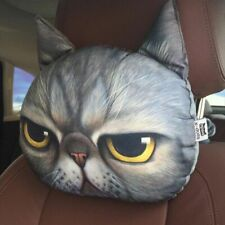 Headrest Pillow 30*25cm Creative Animal Cat Dog Head Car Seat Neck Rest Cushion