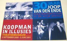 Advertising Theatre Musical 30 years Koopman In Illusies 2001 - unposted