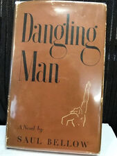 Saul Bellow 1st in dj of author's first book DANGLING MAN