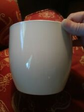 Vintage Off White Ceramic Pot Made In Germany Marked On Bottom of Pot