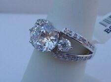 925 STERLING SILVER LADIES WEDDING RING/SZ 5-9 /W/ 3.50 CTS DIAMONDS