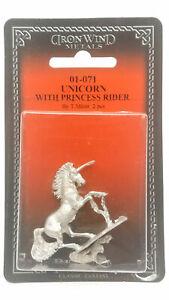 Ral Partha Unicorn With Princess Rider #01-071 Unpainted Fantasy Metal Figure