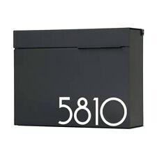 Letterbox Mailbox Drop Box Lockable Large Black Aluminum Wall Mounted