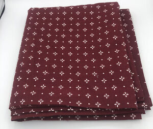 """Longaberger Red Woven Tradition Drapery Panel (84""""x48"""") Fabric 2 3/8 Yd. x 48""""W"""