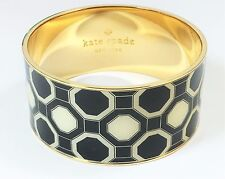 Kate Spade Black and White Octagon Bangle NWT Classic Geometric Octagons