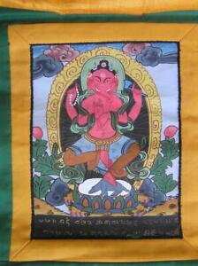 Tapestry Cloth Painting 10 x 14 Traditional Indian Art Ganesha