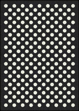 "4x6 Milliken Eclipse Black Modern Polka Dot Area Rug - Approx 3'10""x5'4"""