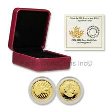 Canada 2014 Howling Wolf $200 1 oz Gold Proof with Box & COA SKU#6451