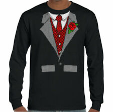 Mens Funny Tuxedo T-Shirt Fancy Dress Outfit Costume Suit Stag Doo shirt & Tie