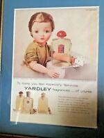 Madame Alexander RARE Cissy Yardley Ad Circa 1960  Professionally Framed Matted