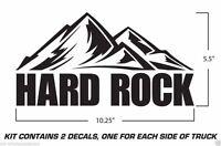 Jeep Wrangler Vinyl Decals Rubicon Sahara Unlimited X Sticker Hard Rock BLACK X2