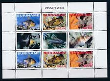 [SUV 1511] Suriname 2008 Marine Life Tropical Fish Miniature Sheet with tab  MNH
