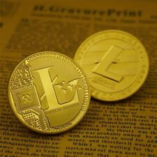 Gold Plated LTC Coin Commemorative Coins Physical Litecoin Collection Miner Coin