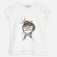 Mayoral Girls Set of two short sleeved t-shirts with print design Aged 2-8 yrs