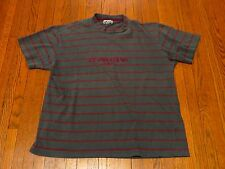 Men's VTG 90's Guess Jeans USA Grey Maroon Striped T-Shirt ASAP Rocky sz M