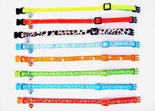 Katzenhalsband Glöckchen viele Farben Halsband Katze Nylon Neon reflektierend