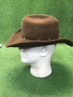 Rodeo King Brown Felt Cowboy Hat Beaver Quality Size XS Extra Small 6 7 8 94c90a29b46
