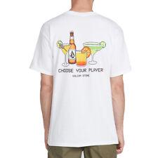 """Volcom """"Chooseyourplayer"""" Short Sleeve Tee (White) Men's Graphic Surf Shirt"""