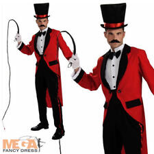 Ringmaster Circus Lion Tamer Fancy Dress Uniform Costume Adult Tailcoat Outfit