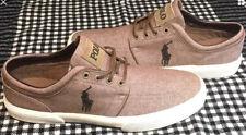POLO Ralph Lauren Faxon Low Casual Shoes - Men's Size 12 D - TAN EUC!
