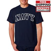 NAVY ARCHED T-SHIRT Military Shirt Blend US U.S.NAVY USNAVY USA tshirt Seal