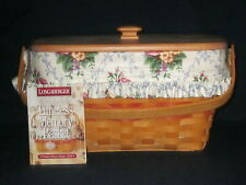 Longaberger 1997 Mother's Day Timeless Memory Basket Combo w/ Lid & Product Card