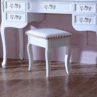 Antique white dressing table stool shabby french chic bedroom furniture home