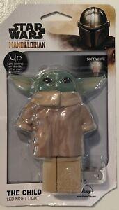 Star Wars LED Night Light Mandalorian The Child Baby Yoda Plug In w Sensor
