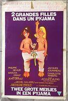 Affiche Belge DEUX GRANDES FILLES DANS UN PYJAMA Jean Girault PHILIPPE NICAUD
