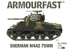Armourfast 1/72nd Scale WWII U.S. Sherman MfA2 75mm Tank Model Kit 99021 NEW
