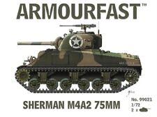 Armourfast 1/72nd Scale WWII U.S. Sherman MfA2 75mm Tank Model Kit 99021 NEW