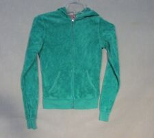 Z7970 Junior's Juicy Couture Green Full Zip Hooded Sweater-P