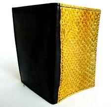 Atson Sirma KK Yellow Salmon Leather Card Holder RRP £309