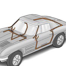 1963 Corvette C2 Convertible Body Weatherstrip 8 Piece 644466