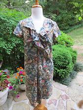 LIDA BADAY Watercolor Print A-Line  Dress 6 TRIPLE MINT